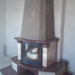 Przykład kominka wybudowanego w Rzeszowie