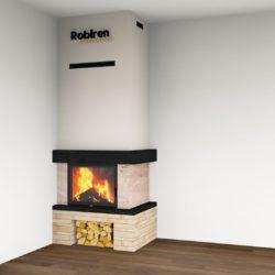 Jeden zprojektów Ignikom - nowoczesny kominek